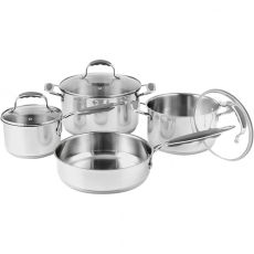 Classic Chef Stainless Steel Cookware Set, 7pc