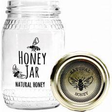 Honey Bee Print Honey Jar, 352ml