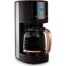 Stainless Steel Rose Gold Digital Coffee Maker, 1.8 Litre