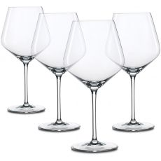 Style Burgundy Wine Glasses, Set Of 4