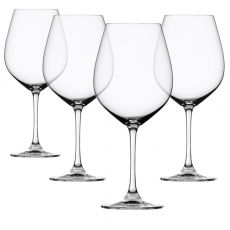 Salute Burgundy Wine Glasses, Set Of 4