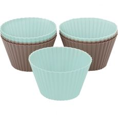 Silicone Large Muffin Moulds, Set Of 8