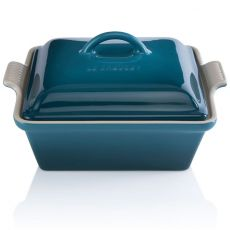 Heritage Square Dish With Lid, 23cm