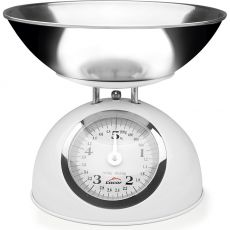 5kg Retro White Kitchen Scale With Stainless Steel Bowl
