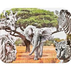 Melamine On Safari Rectangular Tray, 43cm