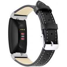 Black Leather Strap For Fitbit Inspire/Inspire HR, Large