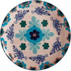 Majolica Round Platter, 36.5cm, Peach