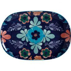 Majolica Oblong Platter, 40cm, Blue