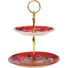 Teas & C's Silk Road 2 Tier Cake Stand