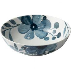 Blue Floral Salad Bowl