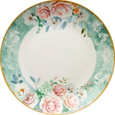 Green Floral Charger Plate