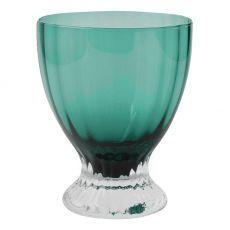 Solid Handmade Stemmed Coloured Juice Glasses, Set Of 4