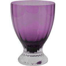 Solid Handmade Stemmed Coloured Beverage Glasses, Set Of 4