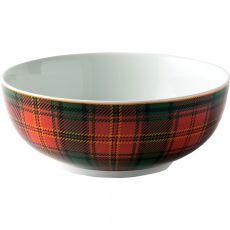Red Tartan Cereal Bowl