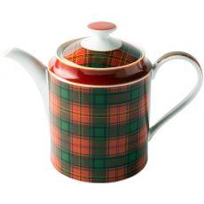 Red Tartan Teapot, 1.1 Litre