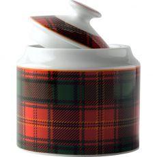 Red Tartan Sugar Pot