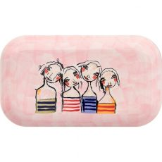 Pink Rectangular Platter, Treasure Friendships