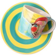 Cup & Saucer, Artist Lady
