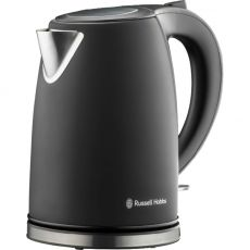Matte Black Stainless Steel Cordless Kettle, 1.7 Litre