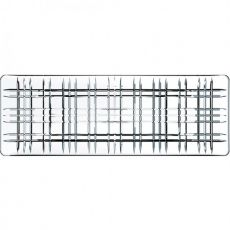 Square Rectangular Lead-Free Crystal Platter, 42cm