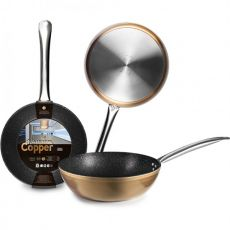 Natura Copper Non-Stick Deep Frying Pan, 28cm