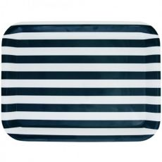Melamine Rectangular Tray, Nautical, 39cm