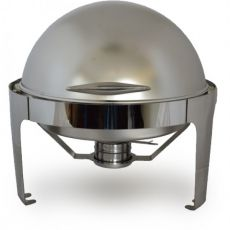Round Satin Roll Top Chafing Dish, 6.5 Litre