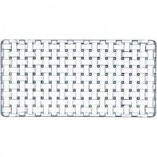 Bossa Nova Lead-Free Crystal Rectangular Platter, 42cm