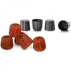 Moka 6cm Canele Moulds, Set Of 4