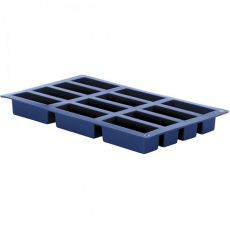 Blueberry 12 Oblong Cup Silicone Baking Pan