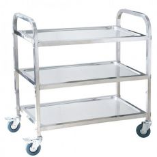 3 Tier Stainless Steel Tea Trolley