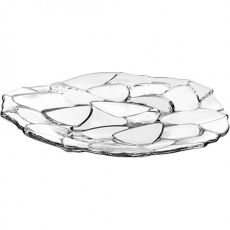 Petals Lead-Free Crystal Round Plate, 32cm