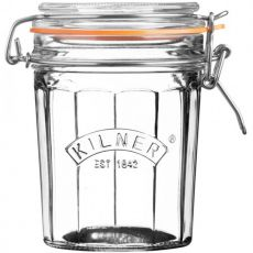 Facetted Clip Top Jar, 450ml