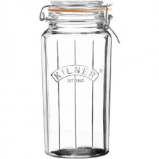 Faceted Clip Top Jar, 1.8 Litre