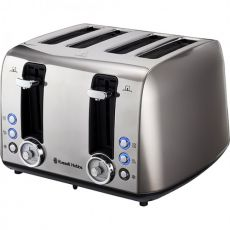 Vintage 4 Slice Toaster, Grey