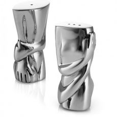 Aluminium Salt & Pepper Set, Male & Female Torso