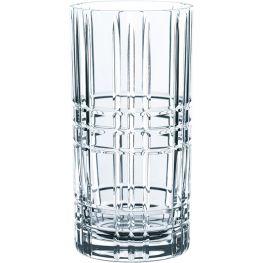 Square Lead-Free Crystal Longdrink Glasses, Set Of 4