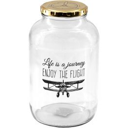 Life's A Journey Glass Storage Jar, 2 Litre