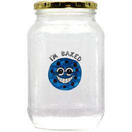 I'm Baked Glass Storage Jar, 1 Litre