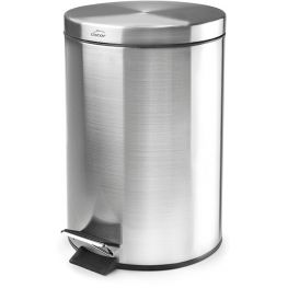 Brushed Stainless Steel Step Pedal Bin