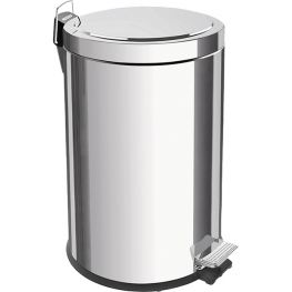 Polished Stainless Steel Step Pedal Bin