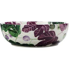 Fig Garden Round Serving Bowl, 25cm