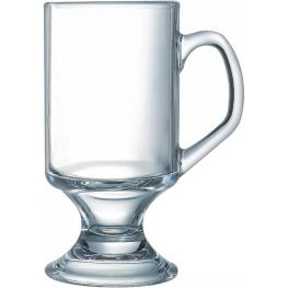 Footed Glass Mug