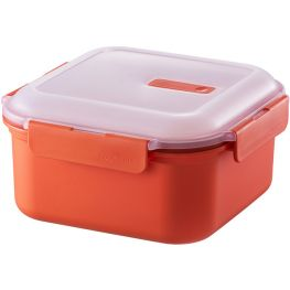 Microwave Square 3-Division Lunch Container, 1.3 Litre