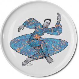 Pop Art Low Bowl, Dancer, 32cm