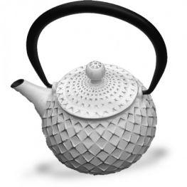Cast Iron Tetsubin Teapot, White, 500ml