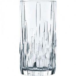 Shu Fa Lead-Free Crystal Longdrink Glasses, Set Of 4