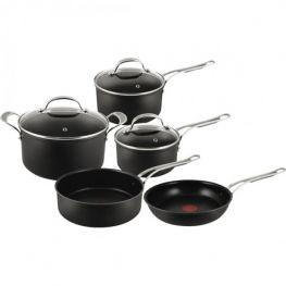 Hard Anodised Non-Stick Cookware Set, 8pc