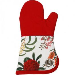 Royal Botanic Garden Oven Mitt, Red