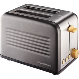 Rustic Metal Tin 2 Slice Toaster